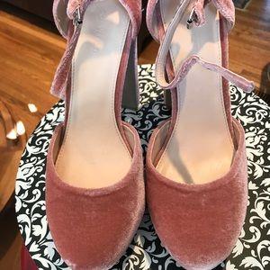 958ccb880ea Shoes - 💕Coco Wren Velvet Platform Shoe